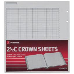 Twinlock Crown Sheets Double Cash Ledger 2.5C 75833 100 Sheets